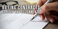 Buying Contracts, Clauses and Assignments