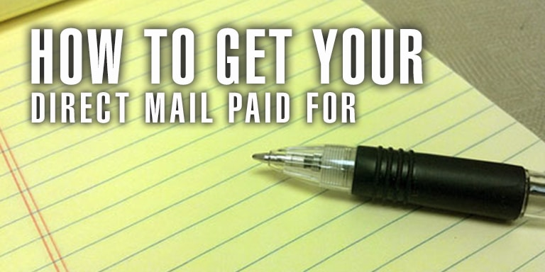 How To Get Your Direct Mail Paid For